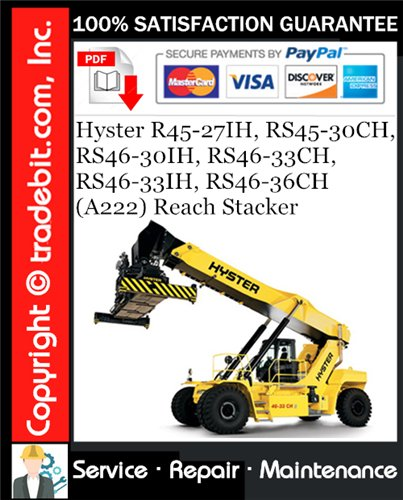 Thumbnail Hyster R45-27IH, RS45-30CH, RS46-30IH, RS46-33CH, RS46-33IH, RS46-36CH (A222) Reach Stacker Service Repair Manual Download ★