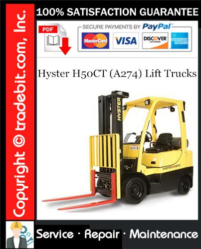 Thumbnail Hyster H50CT (A274) Lift Trucks Service Repair Manual Download ★