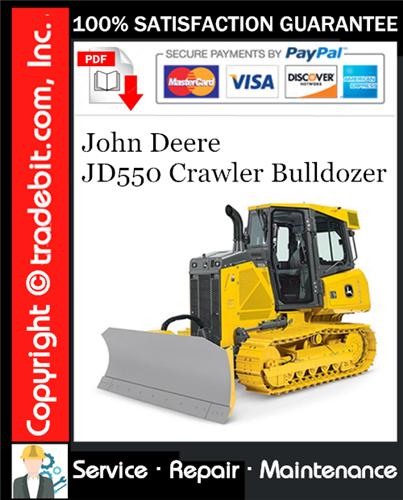 Thumbnail John Deere JD550 Crawler Bulldozer Service Repair Manual Download ★