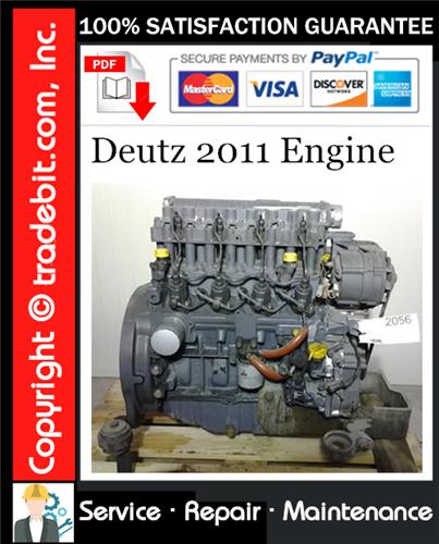 Thumbnail Deutz 2011 Engine Service Repair Manual Download ★