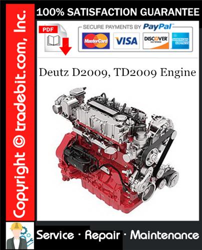 Thumbnail Deutz D2009, TD2009 Engine Service Repair Manual Download ★