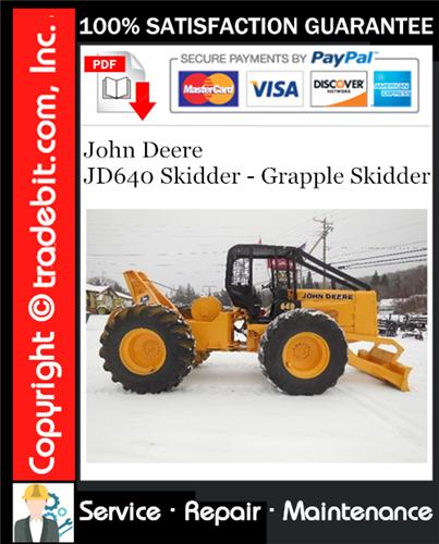 Thumbnail John Deere JD640 Skidder - Grapple Skidder Service Repair Manual Download ★