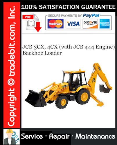 Thumbnail JCB 3CX, 4CX (with JCB 444 Engine) Backhoe Loader Service Repair Manual Download ★