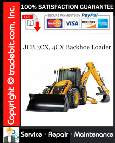 Thumbnail JCB 3CX, 4CX Backhoe Loader Service Repair Manual Download (S/N: 2000000 onwards) ★