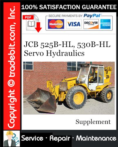 Thumbnail JCB 525B-HL, 530B-HL Servo Hydraulics Service Manual Supplement Download ★