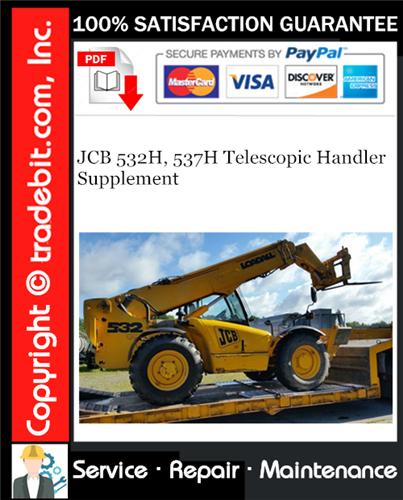 Thumbnail JCB 532H, 537H Telescopic Handler Supplement Service Manual Download ★