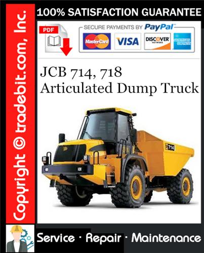 Thumbnail JCB 714, 718 Articulated Dump Truck Service Repair Manual Download ★