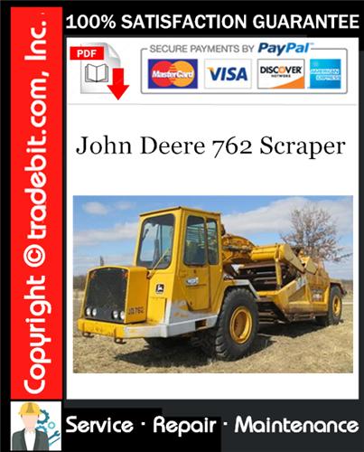 Thumbnail John Deere 762 Scraper Service Repair Manual Download ★