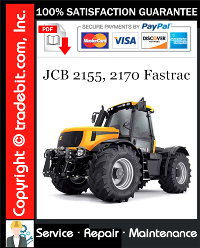Thumbnail JCB 2155, 2170 Fastrac Service Repair Manual Download ★