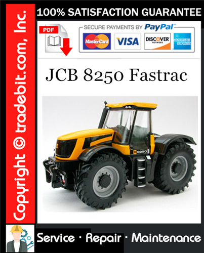 Thumbnail JCB 8250 Fastrac Service Repair Manual Download ★