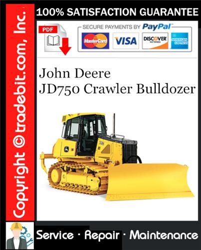 Thumbnail John Deere JD750 Crawler Bulldozer Service Repair Manual Download ★