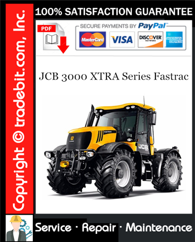 Thumbnail JCB 3000 XTRA Series Fastrac Service Repair Manual Download ★