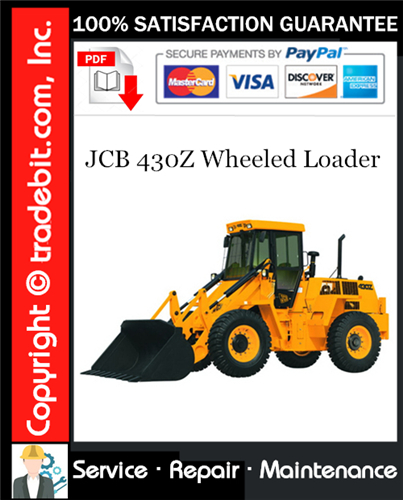 Thumbnail JCB 430Z Wheeled Loader Service Repair Manual Download ★