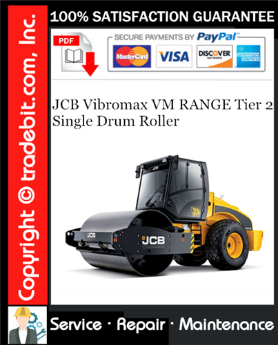 Thumbnail JCB Vibromax VM RANGE Tier 2 Single Drum Roller Service Repair Manual Download ★