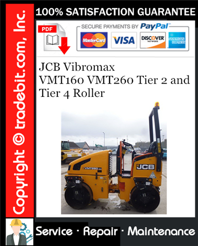 Thumbnail JCB Vibromax VMT160 VMT260 Tier 2 and Tier 4 Roller Service Repair Manual Download ★