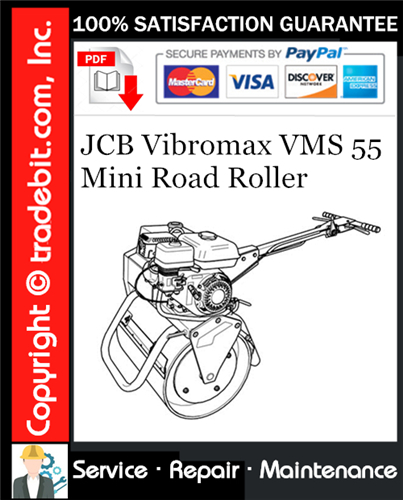 Thumbnail JCB Vibromax VMS 55 Mini Road Roller Service Repair Manual Download ★