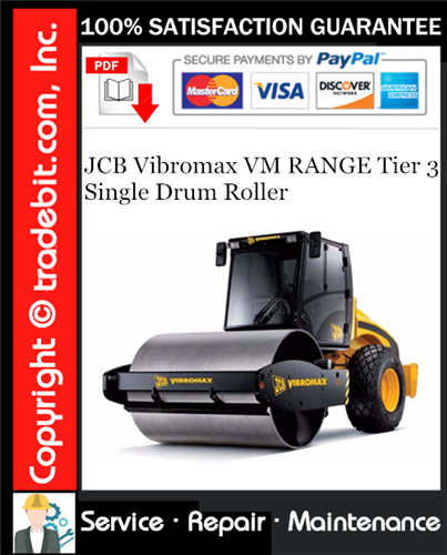 Thumbnail JCB Vibromax VM RANGE Tier 3 Single Drum Roller Service Repair Manual Download ★