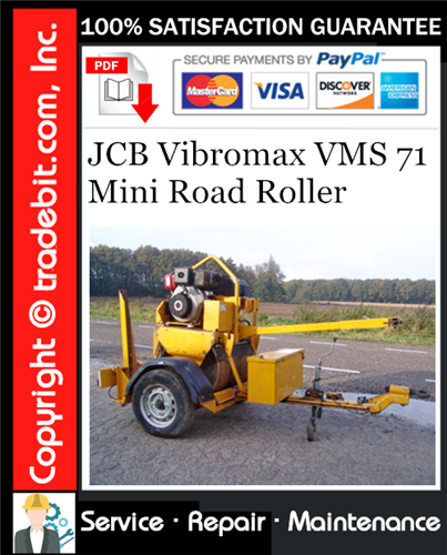 Thumbnail JCB Vibromax VMS 71 Mini Road Roller Service Repair Manual Download ★