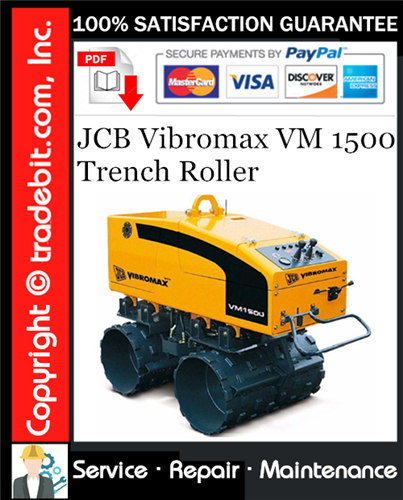 Thumbnail JCB Vibromax VM 1500 Trench Roller Service Repair Manual Download ★