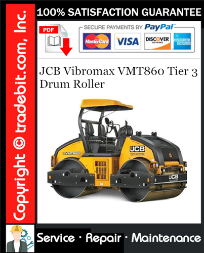 Thumbnail JCB Vibromax VMT860 Tier 3 Drum Roller Service Repair Manual Download ★