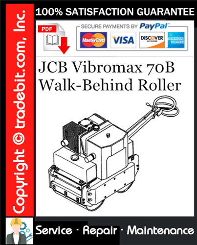 Thumbnail JCB Vibromax 70B Walk-Behind Roller Service Repair Manual Download ★