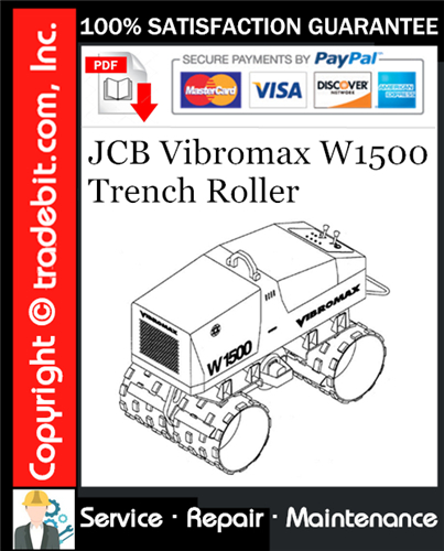 Thumbnail JCB Vibromax W1500 Trench Roller Service Repair Manual Download (Starting at S/N JKC4200800) ★