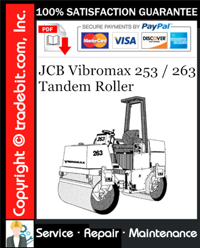 Thumbnail JCB Vibromax 253 / 263 Tandem Roller Service Repair Manual Download ★