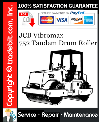 Thumbnail JCB Vibromax 752 Tandem Drum Roller Service Repair Manual Download ★