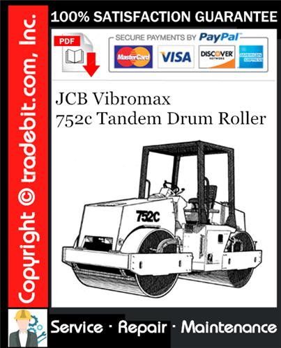 Thumbnail JCB Vibromax 752c Tandem Drum Roller Service Repair Manual Download ★