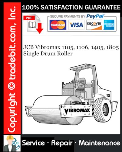 Thumbnail JCB Vibromax 1105, 1106, 1405, 1805 Single Drum Roller Service Repair Manual Download ★