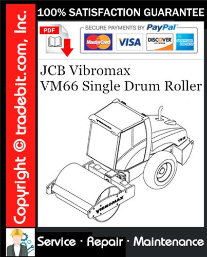 Thumbnail JCB Vibromax VM66 Single Drum Roller Service Repair Manual Download ★
