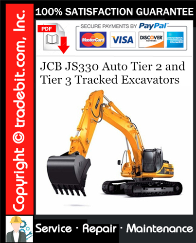 Thumbnail JCB JS330 Auto Tier 2 and Tier 3 Tracked Excavators Service Repair Manual Download ★