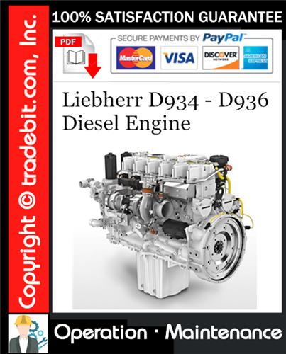 Thumbnail Liebherr D934 - D936 Diesel Engine Operation & Maintenance Manual Download ★