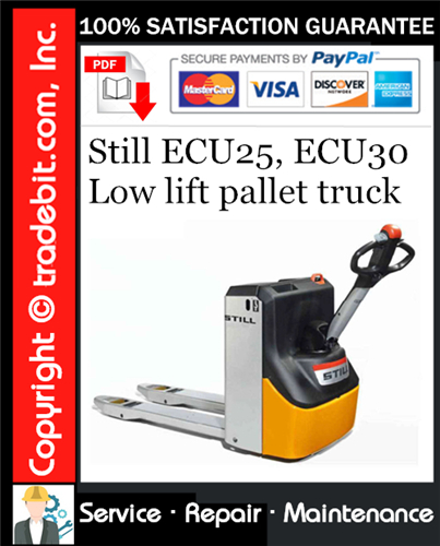 Thumbnail Still ECU25, ECU30 Low lift pallet truck Service Repair Manual Download ★