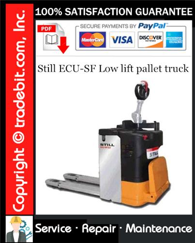 Thumbnail Still ECU-SF Low lift pallet truck Service Repair Manual Download ★