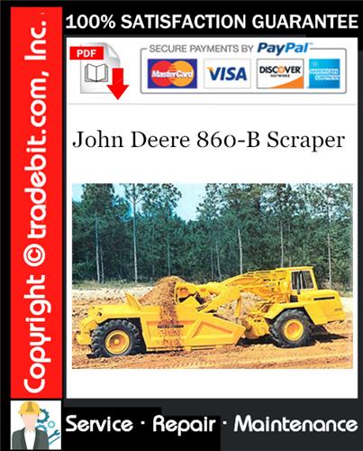 Thumbnail John Deere 860-B Scraper Service Repair Manual Download ★