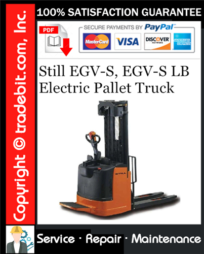 Thumbnail Still EGV-S, EGV-S LB Electric Pallet Truck Service Repair Manual Download ★