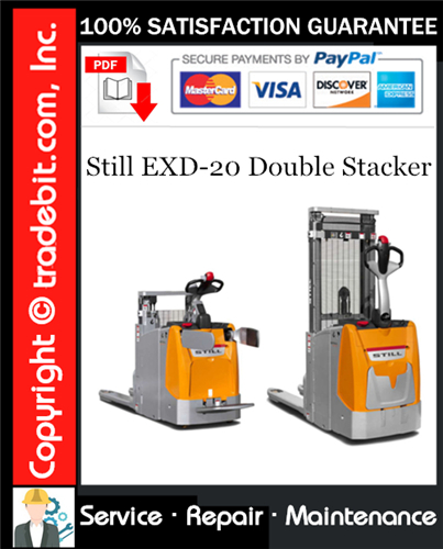 Thumbnail Still EXD-20 Double Stacker Service Repair Manual Download ★