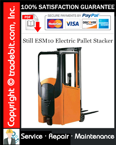 Thumbnail Still ESM10 Electric Pallet Stacker Service Repair Manual Download ★