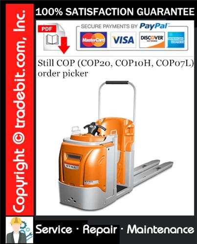 Thumbnail Still COP (COP20, COP10H, COP07L) order picker Service Repair Manual Download ★