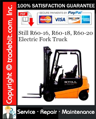 Thumbnail Still R60-16, R60-18, R60-20 Electric Fork Truck Service Repair Manual Download ★