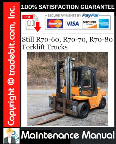 Thumbnail Still R70-60, R70-70, R70-80 Forklift Trucks Maintenance Manual Download ★