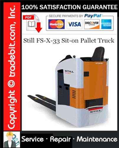 Thumbnail Still FS-X-33 Sit-on Pallet Truck Service Repair Manual Download ★