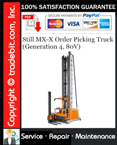 Thumbnail Still MX-X Order Picking Truck (Generation 4, 80V) Service Repair Manual Download ★
