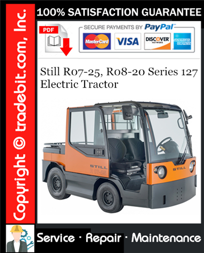 Thumbnail Still R07-25, R08-20 Series 127 Electric Tractor Service Repair Manual Download ★