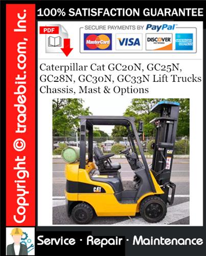 Thumbnail Caterpillar Cat GC20N, GC25N, GC28N, GC30N, GC33N Lift Trucks Chassis, Mast & Options Service Repair Manual Download ★