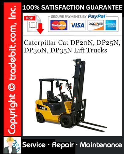 Thumbnail Caterpillar Cat DP20N, DP25N, DP30N, DP35N Lift Trucks Service Repair Manual Download ★