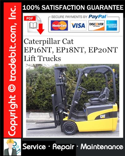 Thumbnail Caterpillar Cat EP16NT, EP18NT, EP20NT Lift Trucks Service Repair Manual Download ★