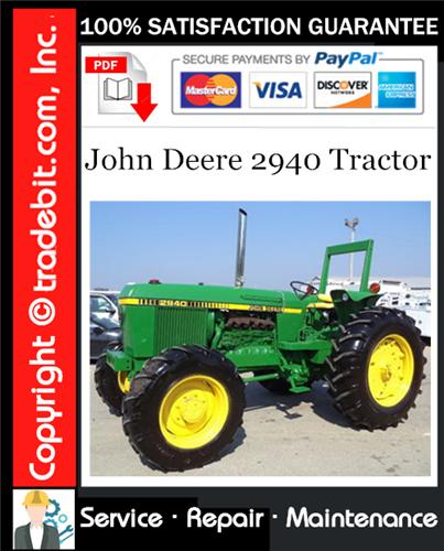 Thumbnail John Deere 2940 Tractor Service Repair Manual Download ★