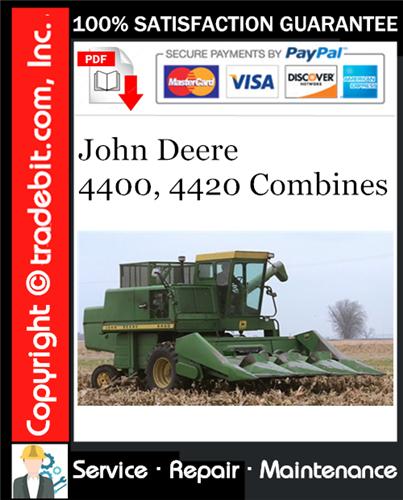 Thumbnail John Deere 4400, 4420 Combines Service Repair Manual Download ★